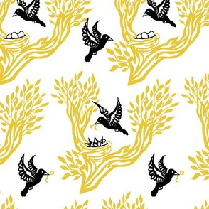 Nesting Birds Gold