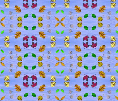 Floating Leaves 2 fabric by robin_rice on Spoonflower - custom fabric