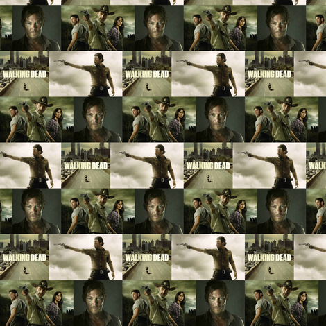 The Walking Dead fabric by shotzi on Spoonflower - custom fabric