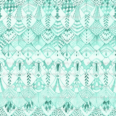 Feathers in Mint