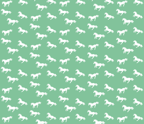 Unicorn Stampede Peppermint fabric by thistleandfox on Spoonflower - custom fabric
