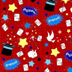 Magic / Magician pattern in red