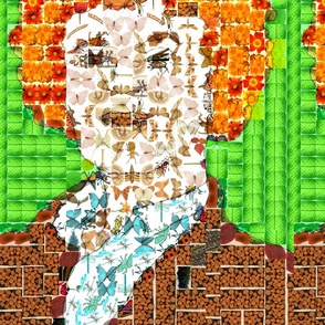 Red Head Digital Photo Mosaic