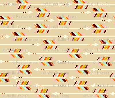 Horizontal Arrows: sand
