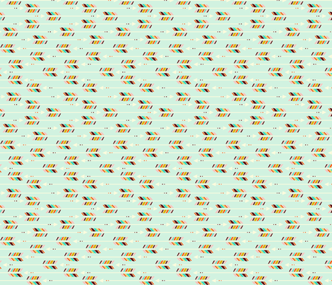 Small Arrows: Horizontal Mint fabric by nadiahassan on Spoonflower - custom fabric