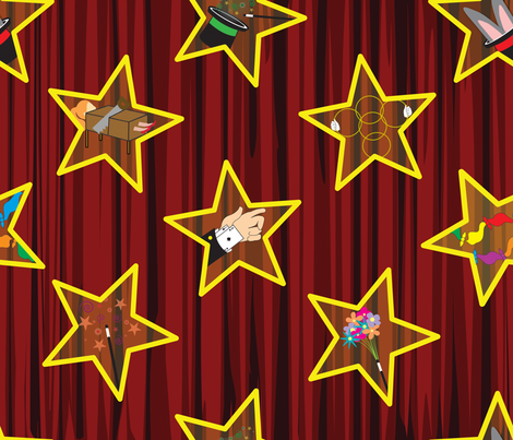 Welcome to the Magic Show! fabric by illustrative_images on Spoonflower - custom fabric