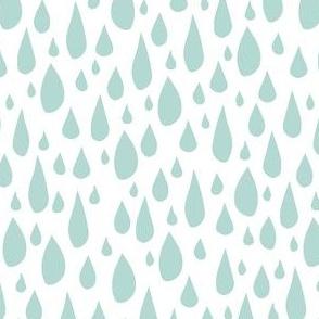 April Showers: Teal Rain Drops