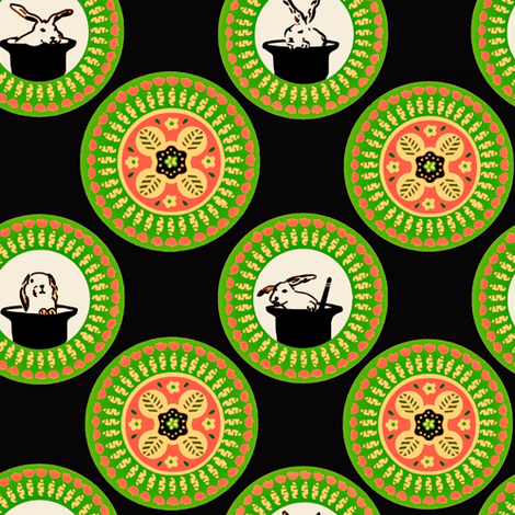 Hats And Hares fabric by susan_polston on Spoonflower - custom fabric