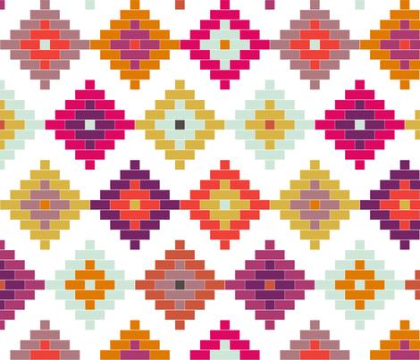 Springtime Moroccan Diamonds fabric by mrshervi on Spoonflower - custom fabric