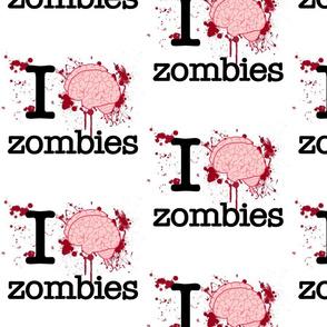 I Heart Zombies 8 inch