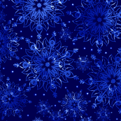 Glowing blue pattern