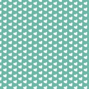 Little Hearts {White and Teal}