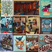Pearl Jam Posters - browns & blues