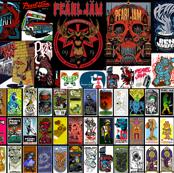 Pearl Jam Poster - red black
