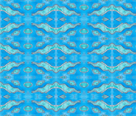 Grt Barr. Reef aerial view horiz. fabric by timaroo on Spoonflower - custom fabric