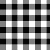 Large Gingham Black
