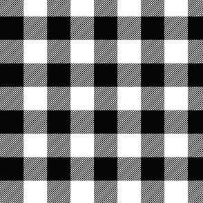 Large Faux Gingham Black & White