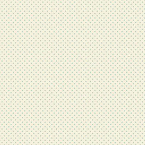 Floral Blue Tiny Polkadot /Quilt1