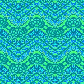 Ethnic blue zigzag