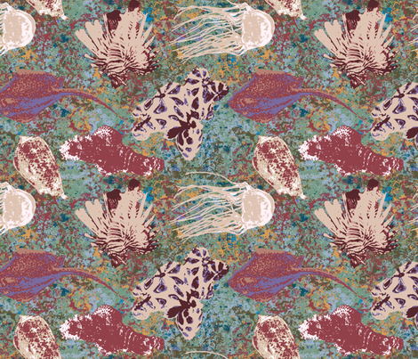 Barrier Reef Poisonous Animals fabric by bloomingwyldeiris on Spoonflower - custom fabric