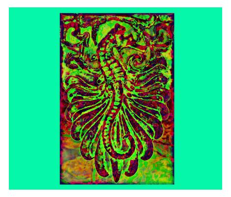 Fantasy Seahorse fabric by guylas_coastal_creations on Spoonflower - custom fabric