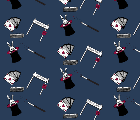 Nothing up the sleeves fabric by redbicycle on Spoonflower - custom fabric