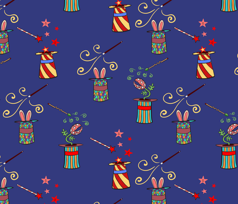 Magic hat fabric by anat_om on Spoonflower - custom fabric