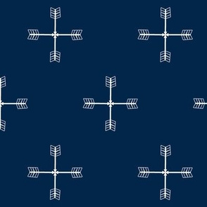 Arrow cross Navy