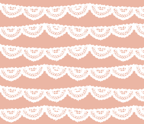Blush Lace fabric by mrshervi on Spoonflower - custom fabric