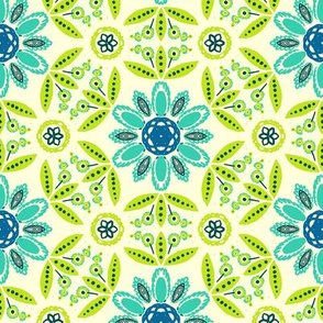 Geometric ethnic flowers