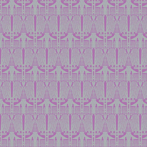 deco angles grey on orchid