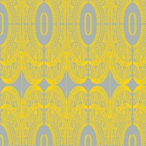 deco empire freesia on grey
