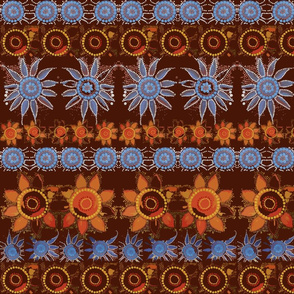 dot_flowers_brown_background