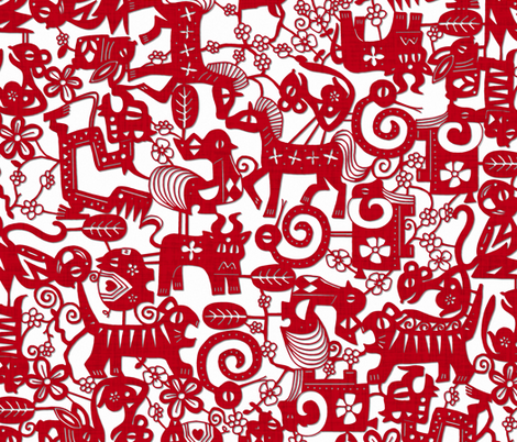 paper zodiac fabric by scrummy on Spoonflower - custom fabric
