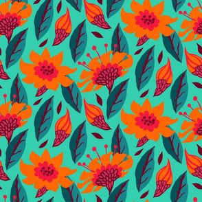 Floral pattern with daisies