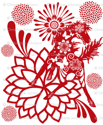 Abundant Beauty  Chinese paper cutting