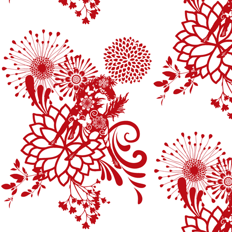 Abundant Beauty   fabric by paragonstudios on Spoonflower - custom fabric