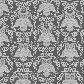 Owl Patter Inverted Grey