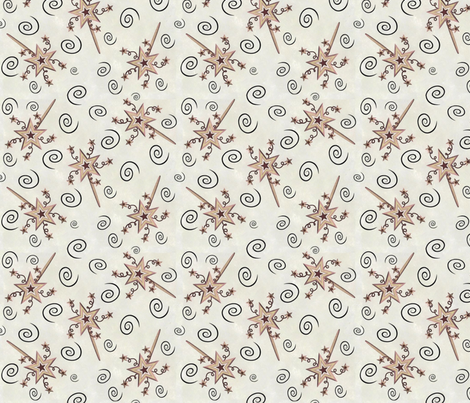 Starry Magic Wands 1 fabric by jabiroo on Spoonflower - custom fabric