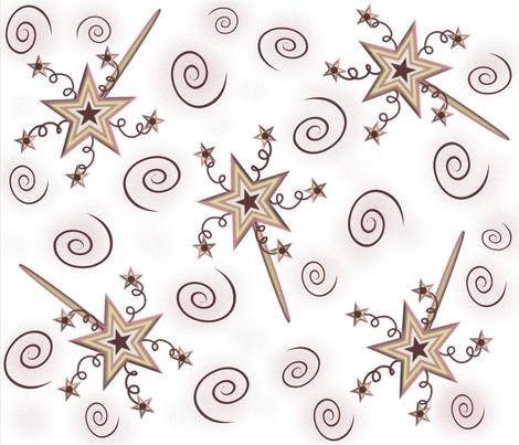 Starry Magic Wands fabric by jabiroo on Spoonflower - custom fabric