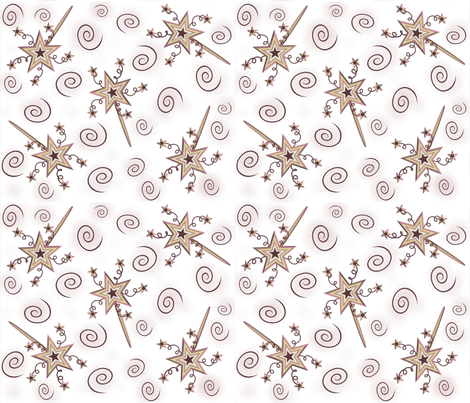 Pretty Magic Wands fabric by jabiroo on Spoonflower - custom fabric