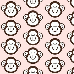 Monkey around pink brown