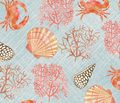 coral_reef_L fabric by nadja_petremand on Spoonflower - custom fabric