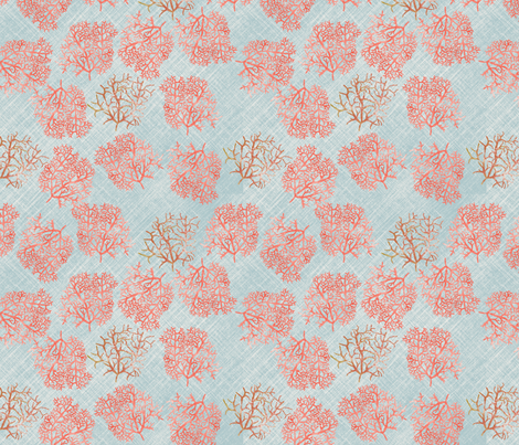 coral_M fabric by nadja_petremand on Spoonflower - custom fabric
