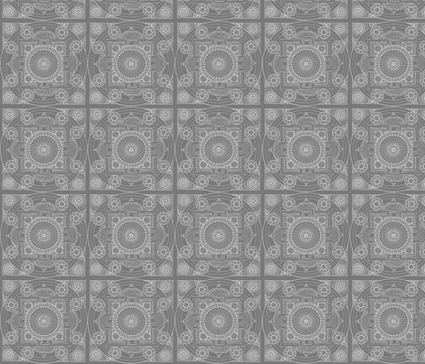 Grey Mandala fabric by mammajamma on Spoonflower - custom fabric