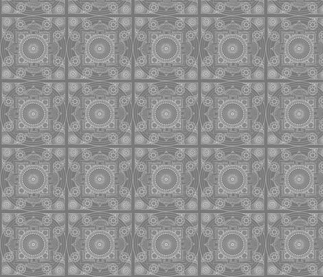 Grey Mandala fabric by mammajamma on Spoonflower - custom fabric