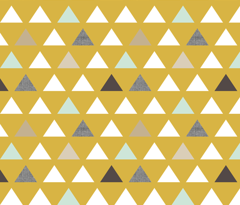 Mod Mustard Triangles fabric by mrshervi on Spoonflower - custom fabric