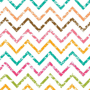 Colorful grunge chevron zig zag