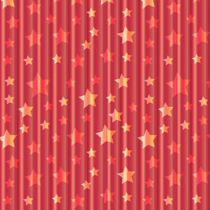 magic curtain in red