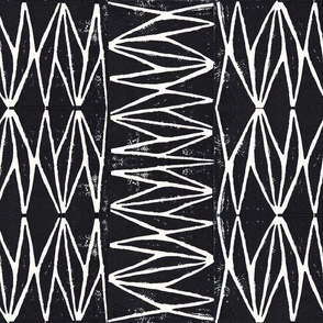 Tribal Block print Black and White